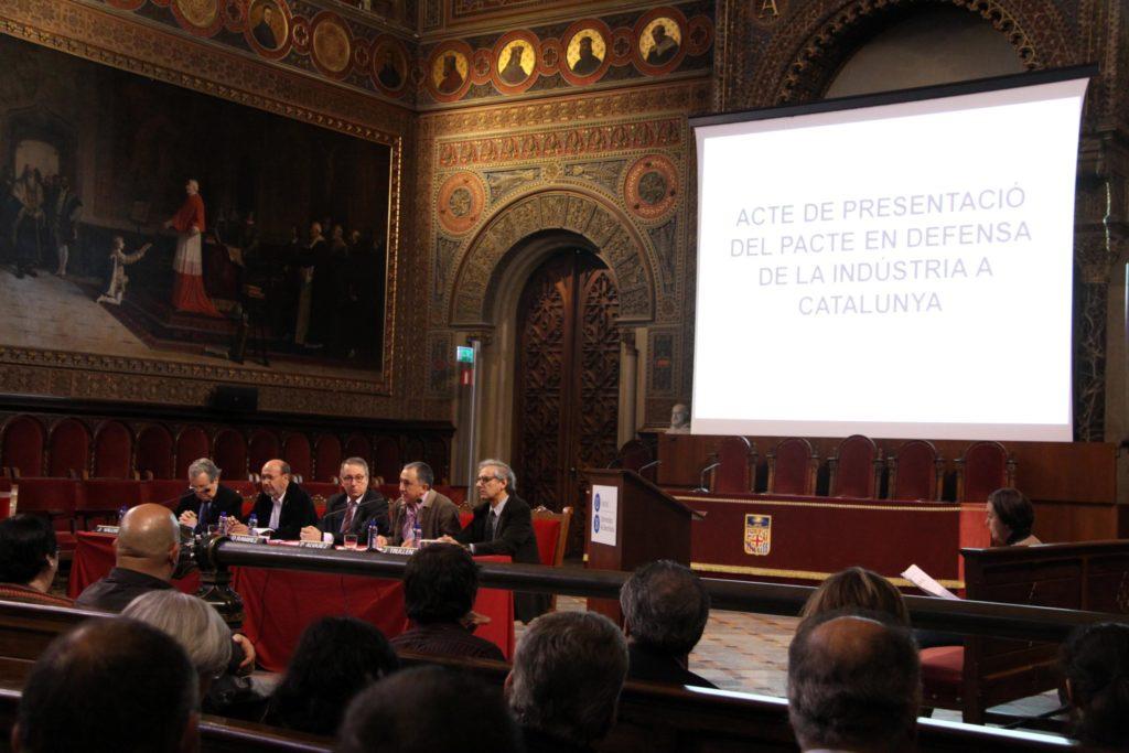 Un moment de l'acte celebrat a l'edifici històric de la UB. Foto: Universitat de Barcelona