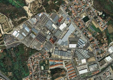Imagen aérea de un polígono de Pineda de Mar. Foto: SIMAE