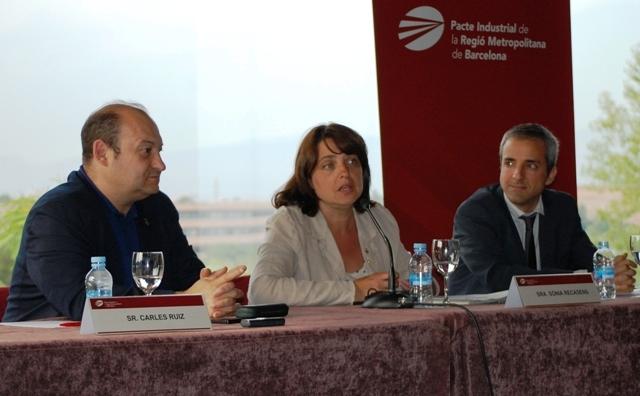 D'esq. a dta.: Carles Ruiz, president del Comitè Executiu; Sònia Recasens, presidenta del Consell General, i Carles Rivera, coordinador gerent