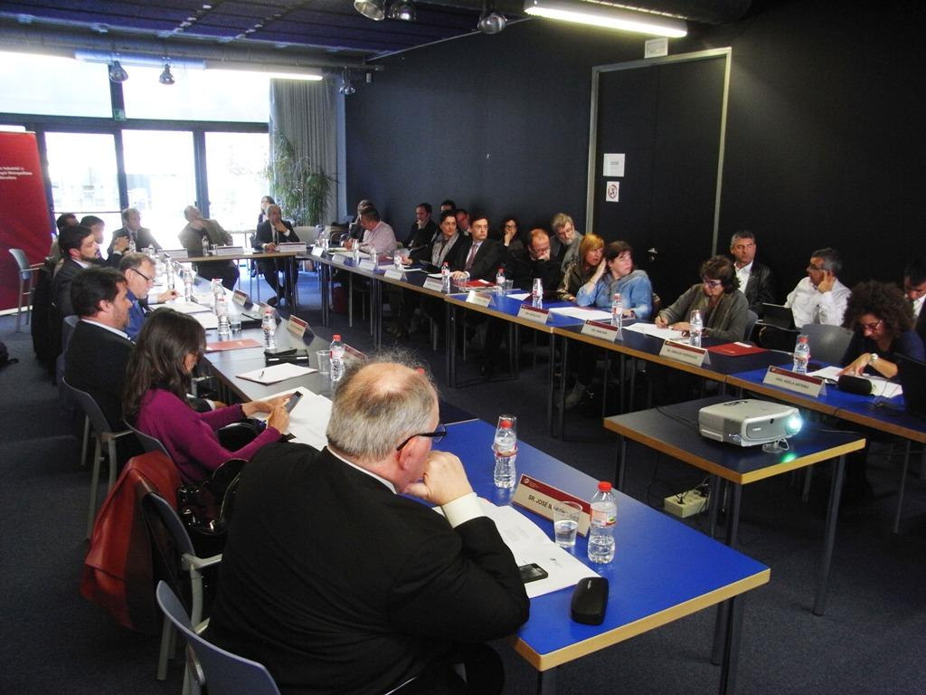 Un moment de la reunió número 41 del Comitè Executiu del Pacte Industrial