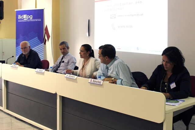 D'esq. a dta.: Jordi Cuyàs, Carles Rivera, Cristina Fabián, Eusebi Graners i Susanna Sánchez. Foto: ADEPG
