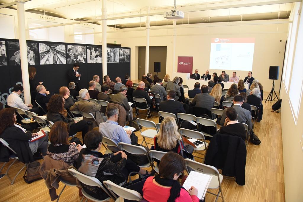 Un moment de la reunió del XX Consell General del Pacte Industrial