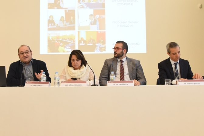 De izq. a dcha.: Carles Ruiz, Sònia Recasens, David Bote i Carles Rivera