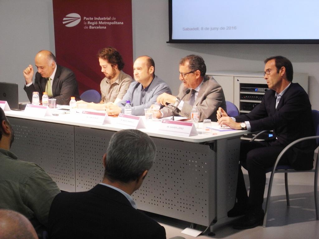 D'esq. a dta.: Josep Miquel Piqué, Eduard Navarro, Carles Ruiz, Miquel Barceló i Xavier López