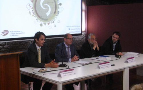 D'esq. a dta.: Carlos Rodríguez, Eloy Álvarez Pelegry, Carles Riba i Antoni Fuentes