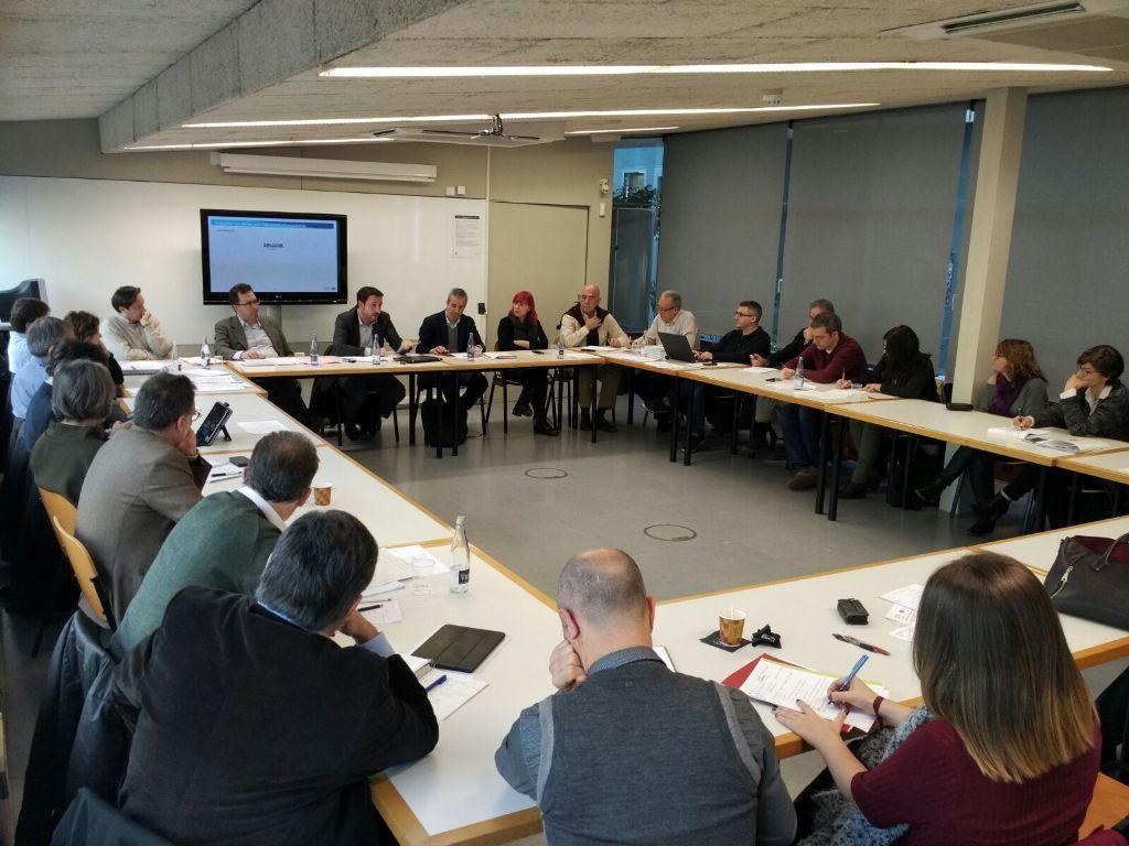 Un momento de la reunión de trabajo del grupo de industria