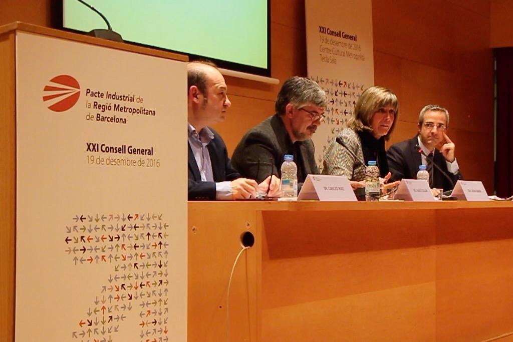 De izq. a dcha.: Carles Ruiz, Agustí Colom, Núria Marín y Carles Rivera