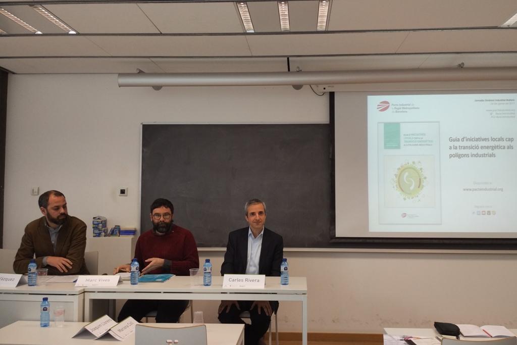 D'esq. a dta.: Iago Vázquez, Marc Vives i Carles Rivera