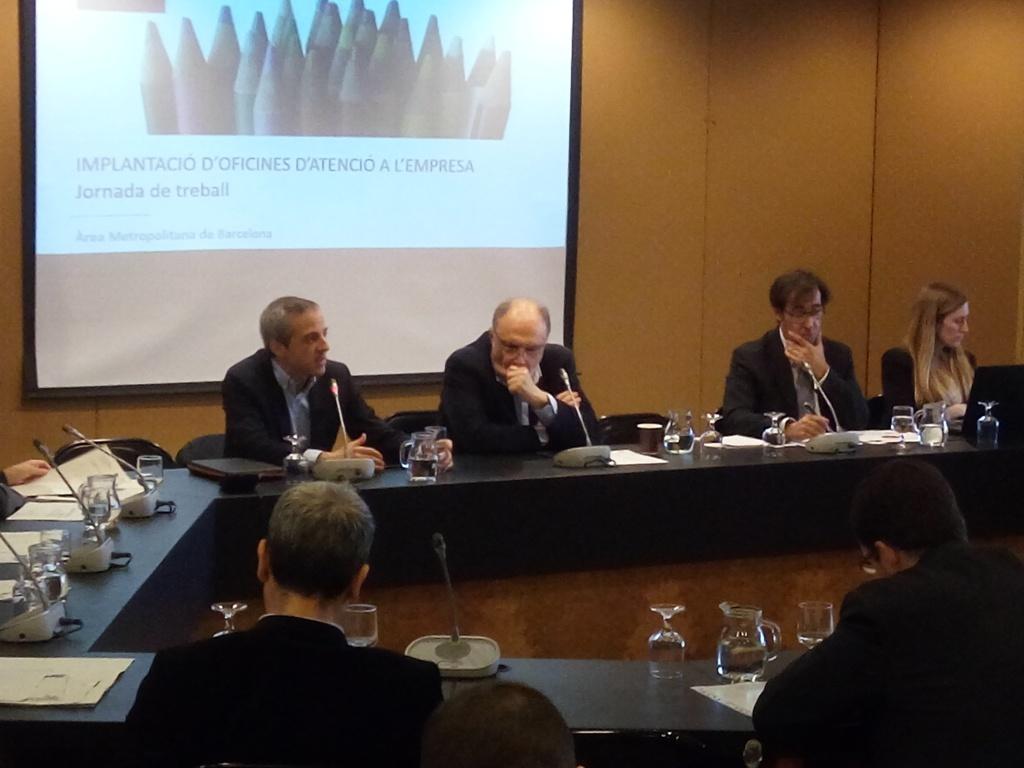 D'esq. a dta.: Carles Rivera, Hector Santcovsky, Jaume Amill i Nora Rodríguez