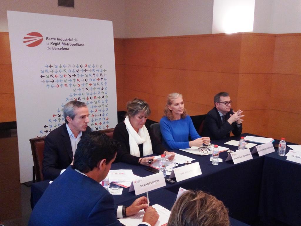 D'esq. a dta.: Carles Rivera, Núria Marín, Matilde Villarroya i Joan Miquel Hernández.
