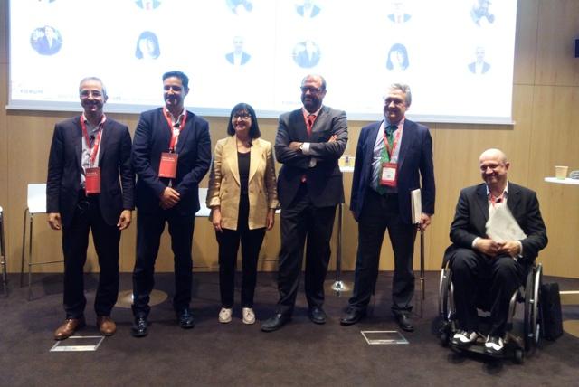 D'esq. a dta.: Carles Rivera, Sergi Fuster, Mercè Corretja, Jaume Puig, Manel Romero i Jordi Ayala