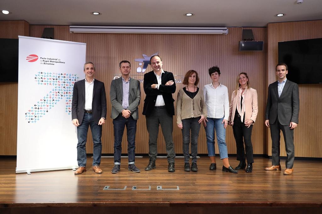 D'esq. a dta.: Carles Rivera, Javier Creus, Oscar Sala, Monse Blanes, Laura Fernández, Sonia Ruiz i Jordi Oliver.