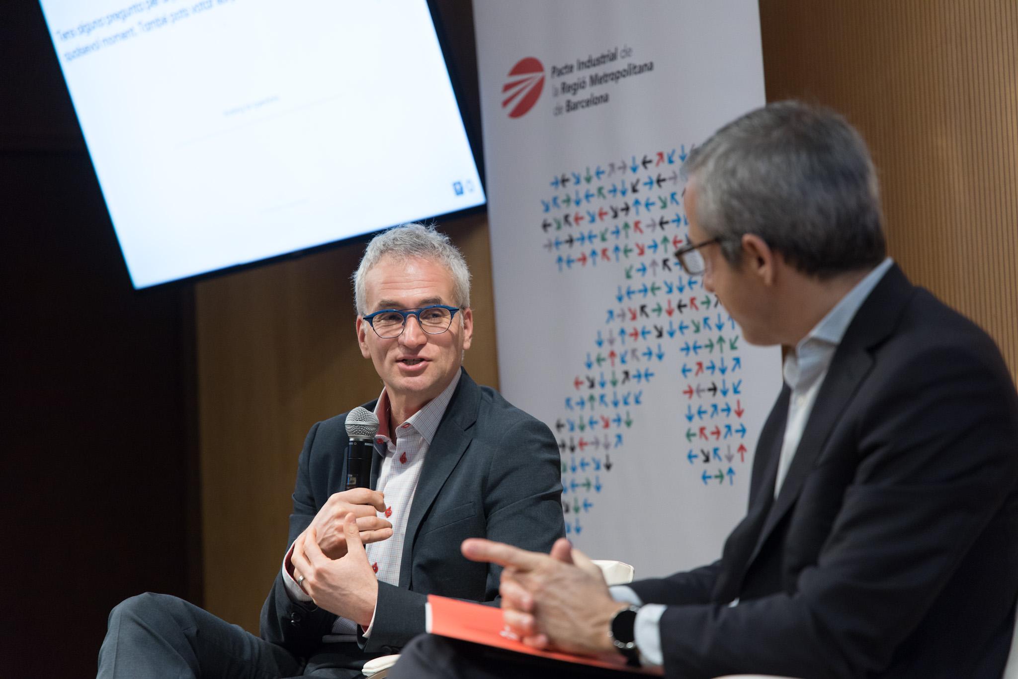 Dror Etzion, professor de Sostenibilitat i Estratègia a la McGill University (Canadà), durant la seva intervenció al cicle #2030circular (23-01-2020)